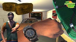 My Summer Car  -  New Marker Lights, New wristwatch, Seatbelts in Ferndale. LIVESTREAM