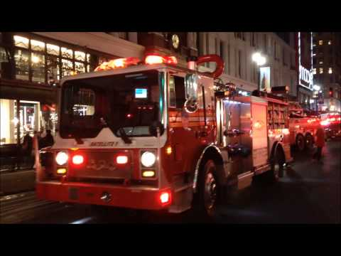 MAJOR FDNY, NYPD, EMS RESPONSE TO 2 ALARM FIRE AT MACY'S FLA