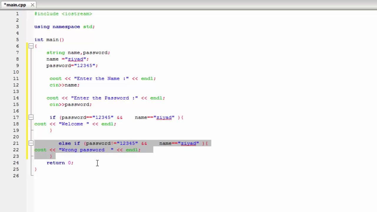 C++ Programming Tutorials - 11 - Create a Password - Ferkari C++ ba Kurdi 11 [Kurdish] - By Ziyad