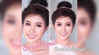 EP03 How to แต่งหน้าเจ้าสาวหวานๆ SWEET PEACH Bridal Makeup | PALMPAVA MAKEUP