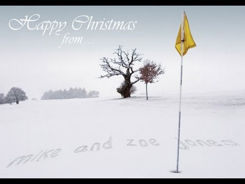 Winter Golf Personalised Christmas Cards YouTube - Golf christmas cards