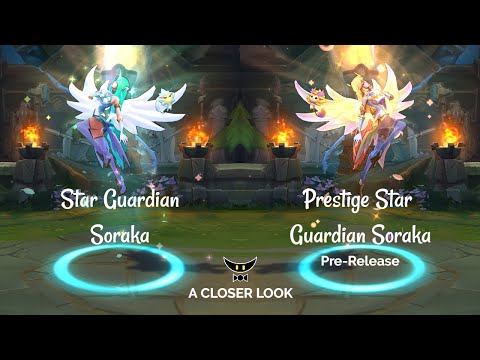 Star Guardian Soraka and Prestige Edition Model Comparison