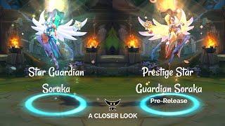 Star Guardian Soraka and Prestige Edition Model Comparison