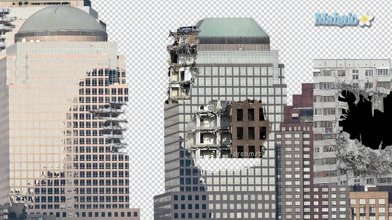 Photoshop Tutorial - Destroy City - Put a hole in the building - YouTube