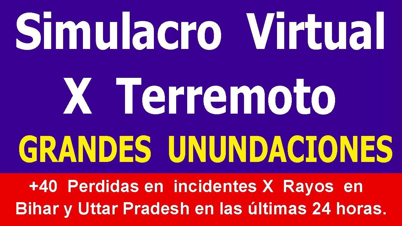 Simulacro Virtual X Posible Terremoto en Mexico  Sismo Ultima Hora Noticias de Terremotos HYPER333