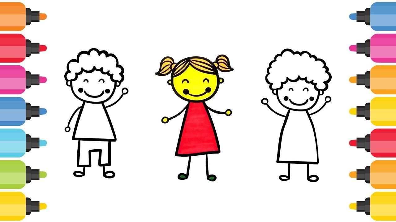çocuk Figürleri Boyama Oyunu Youtube