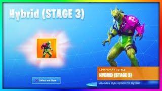 NEW *STAGE 3* Hybrid Skin UNLOCKED.. (Dragon Skin Gameplay Fortnite)