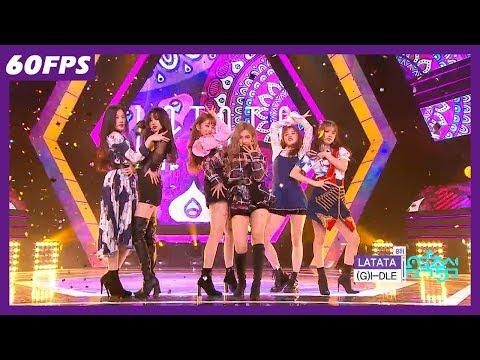 60FPS 1080P | (G)I-DLE - LATATA, (여자)아이들 - 라타타 Show Music Core 20180519