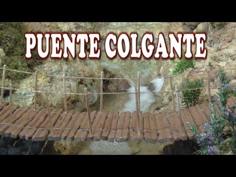 Diy puente colgante suspension bridge youtube - Casas para belenes hechas a mano ...