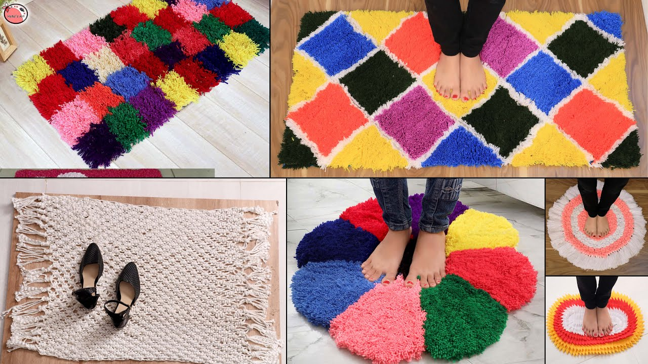 WOW!!! Beautiful 10 Doormat Making Idea - With Old Clothes