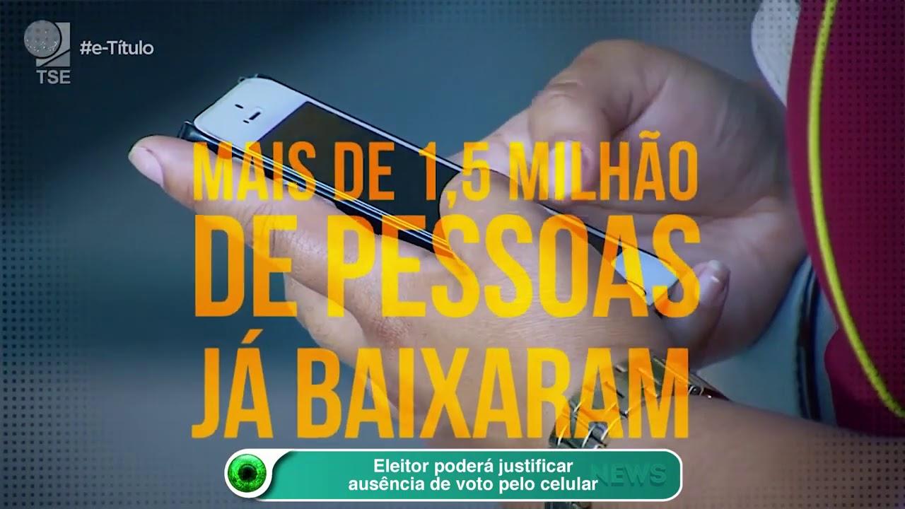 Eleitor poderá justificar ausência de voto pelo celular