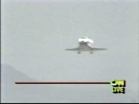CNN Coverage of The STS-49 Landing