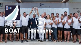 All the best moments from the Loro Piana Superyacht Regatta 2016
