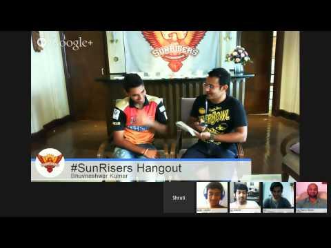 #SunRisersHangout with Bhuvneshwar Kumar