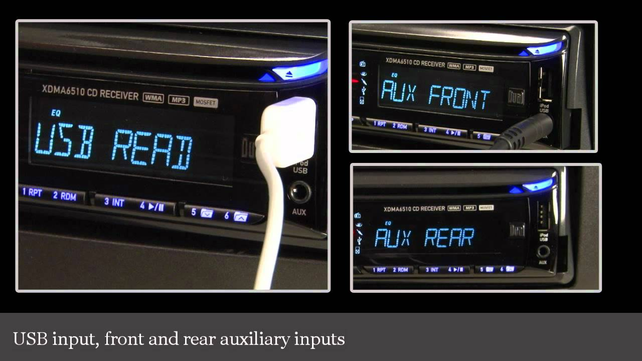 dual xdma6510 cd receiver display and controls demo. Black Bedroom Furniture Sets. Home Design Ideas