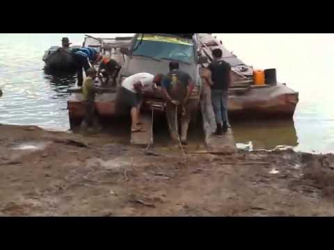 Crossing Essequibo River Guyana 2016