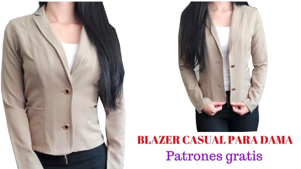 gran surtido mejor valor mejor baratas DIY Cómo hacer un blazer casual para dama corte y confección