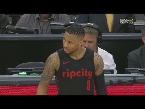 Damian Lillard 50 Points in 3 Quarters vs Kings! 2017-18 Season
