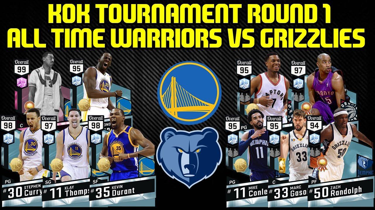 KOK TOURNAMENT ROUND 1 ALL TIME WARRIORS VS GRIZZLIES (DBG) NBA 2K17 MYTEAM
