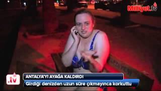 Rus turist Antalya'yı ayağa kaldırdı Videosu