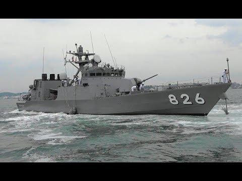 海上自衛隊 ミサイル艇「おおたか(大鷹)」門司港出港 ' PG826 Otaka '