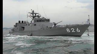 海上自衛隊 ミサイル艇「おおたか(大鷹)」門司港出港