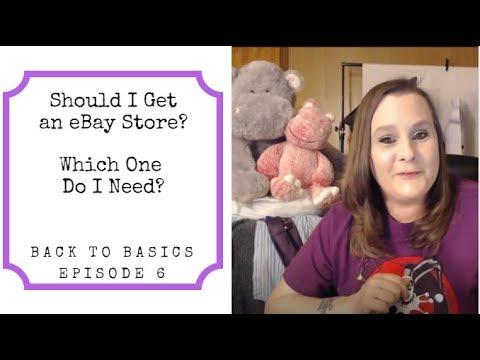 Should I Get An EBay Store?