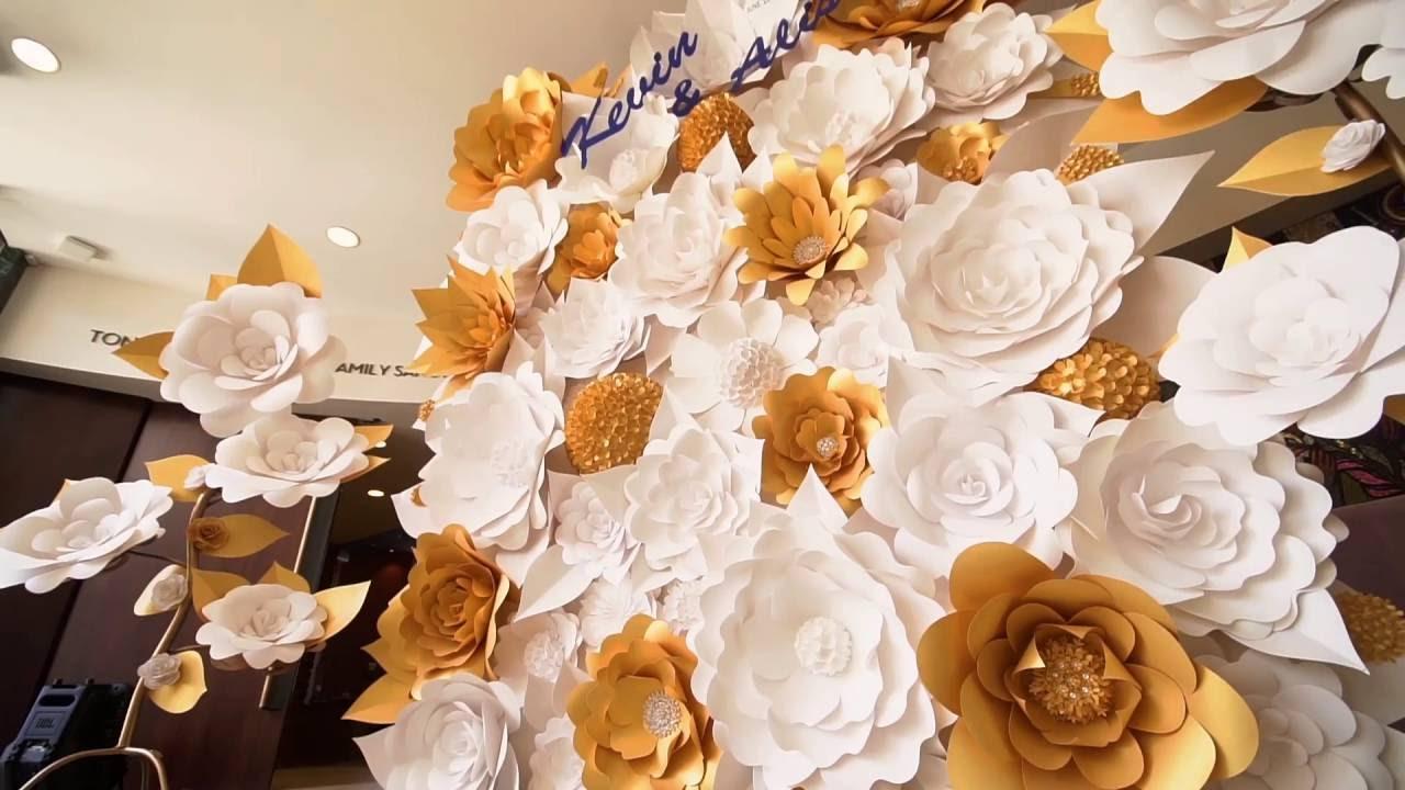 Paper Flower Wall Backdrops By Mahi Rehan Youtube