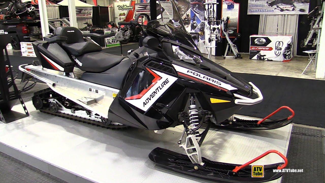 2016 polaris indy adventure 550 155 sled walkaround 2015 toronto snowmobile atv show youtube