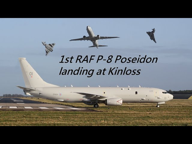 First RAF Poseidon MRA1 arrives at Kinloss Barracks
