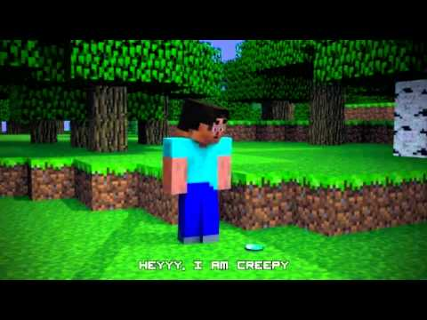 (Karaoke) instrumental ♪like an enderman - gangnam style minecraft parody