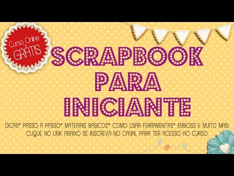 Scrapbook curso para iniciantes, material básico genérico