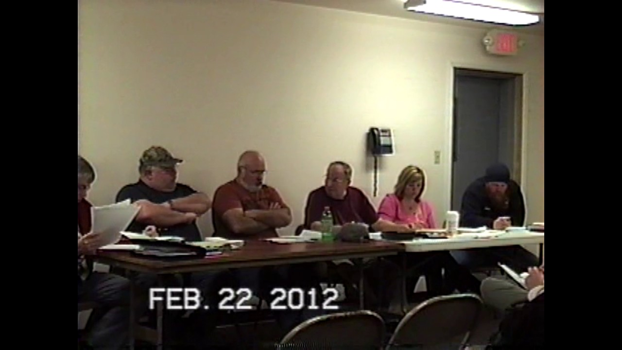 Dannemora Town Board Meeting  2-22-12