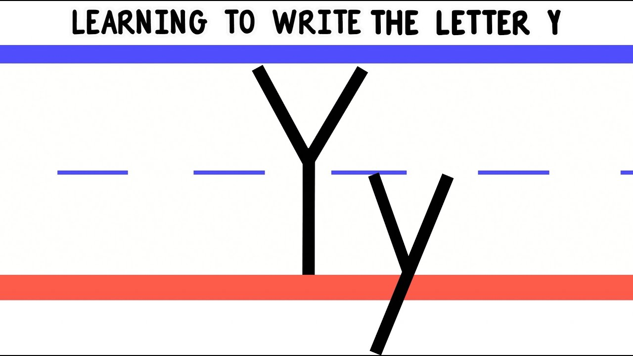 Write The Letter Y  Abc Writing For Kids  Alphabet Handwriting By