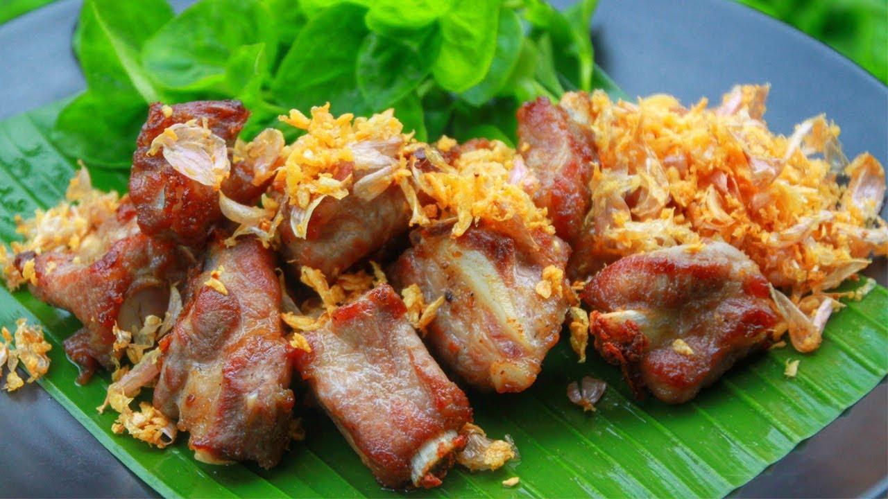 ซี่โครงหมูทอดกระเทียมพริกไทย สูตรพื้นฐานง่ายๆ l กินได้อร่อยด้วย - YouTube