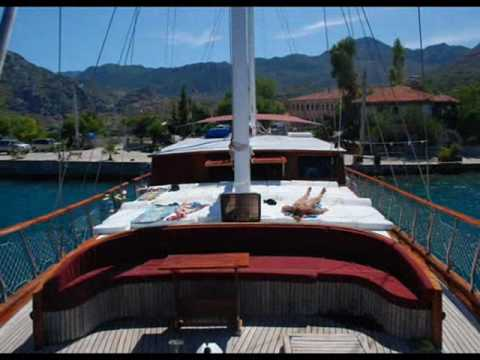 Charter gulet Cagatay in Turkey.wmv