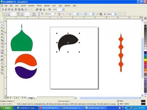 corel draw Best Video shape tool in urdu tutorials pepsi logo menar