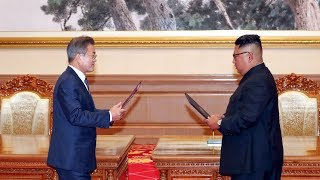 Moon, Kim sign security agreement in Pyongyang