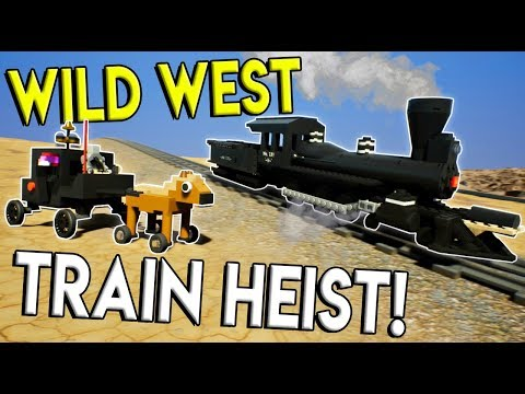 LEGO WILD WEST TRAIN HEIST! - Brick Rigs Gameplay Challenge - Lego Cowboy Cops and Robbers