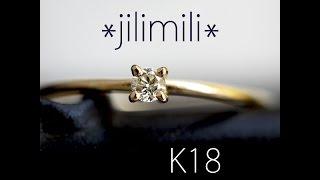 【特価】【K18】0.05ct ラウンドブリリアントカット ライトイエローダイヤモンド リング (10号) [596]