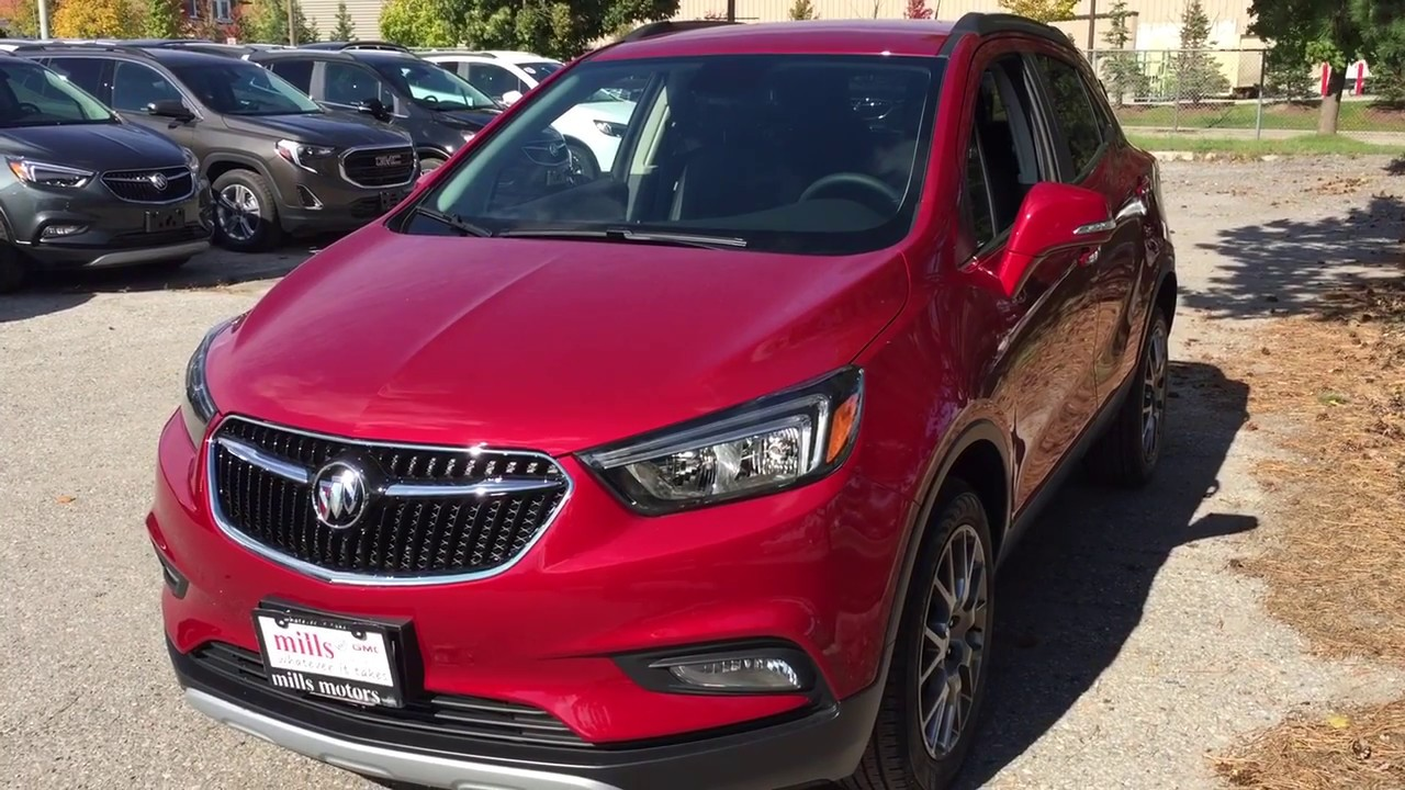 Red Buick Encore >> 2019 Buick Encore Awd 4dr Sport Touring Red Oshawa On Stock 190115