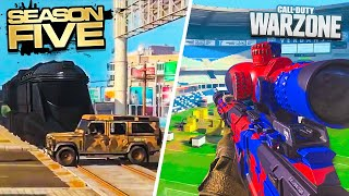 *NEW* MOVING TRAIN & STADIUM OPENING in WARZONE!