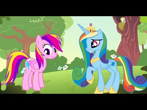 My Little Pony Transforms - Color Swap Rainbow Dash Princess Cadance MLP - Coloring Videos For Kids