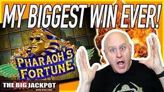 💥MY BIGGEST WIN EVER on Pharaohs Fortune Slots! ✦ Retrigger Jackpot! | The Big Jackpot
