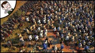 MASSIVE MEDIEVAL SURVIVAL! 3000 English v 12000 French - Medieval Kingdoms Total War Gameplay!