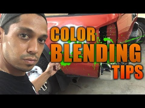Body work color blending tips