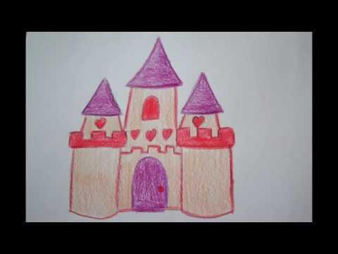 Prinzessinnen Schloss Zeichnen How To Draw A Princess Castle Risuem Zamok Youtube