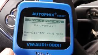 Autophix VAG007 OBD2 Diagnosegerät / Elektrische Parkbremse lösen EPB
