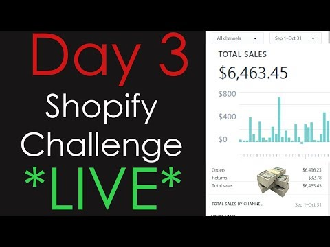 (Day 3) SHOPIFY CHALLENGE - Making an AD post LIVE, Influencers