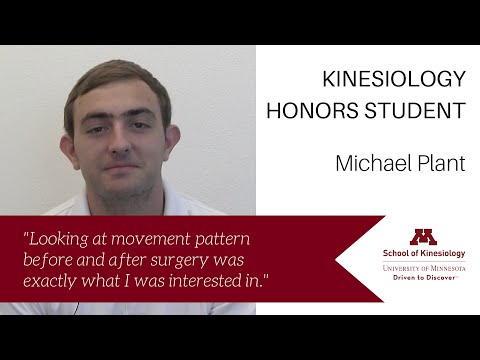 Michael Plant - KIN Honors Student